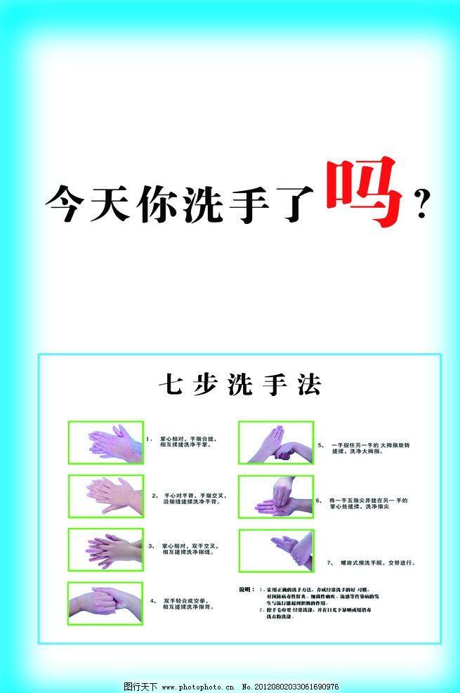 手卫生 七步洗手法 洗手 手 卫生 医院 医院版面 公共卫生 公共卫生