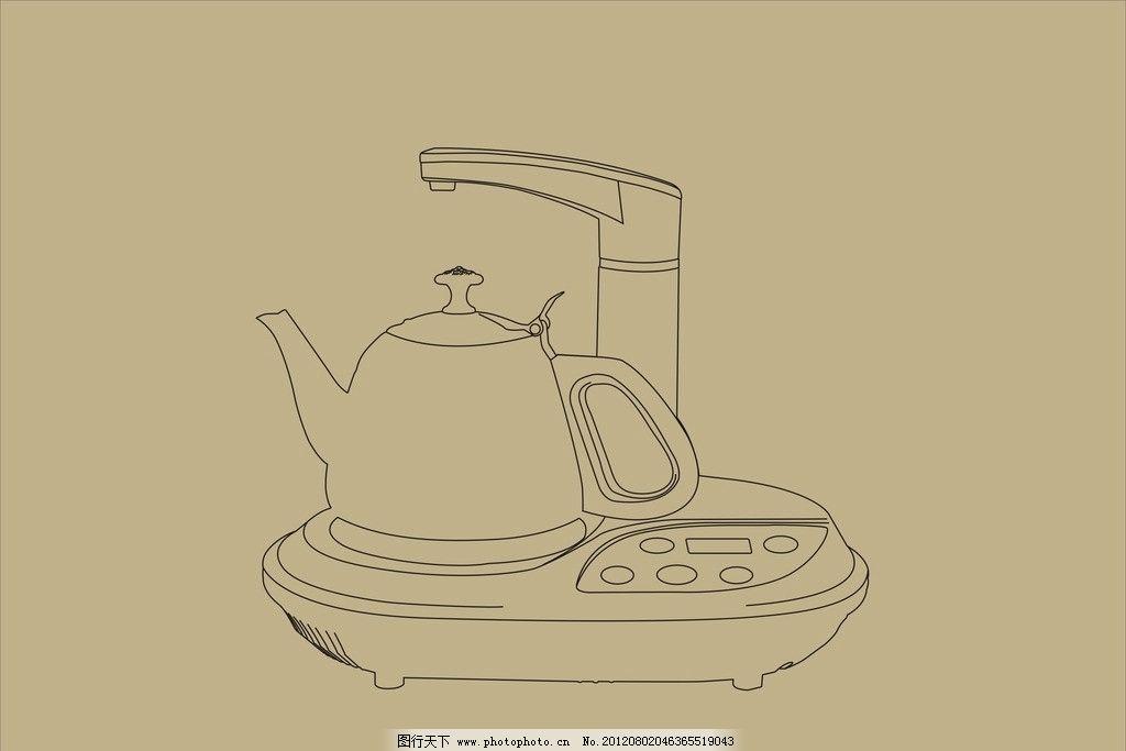 电茶炉 水壶 简笔画