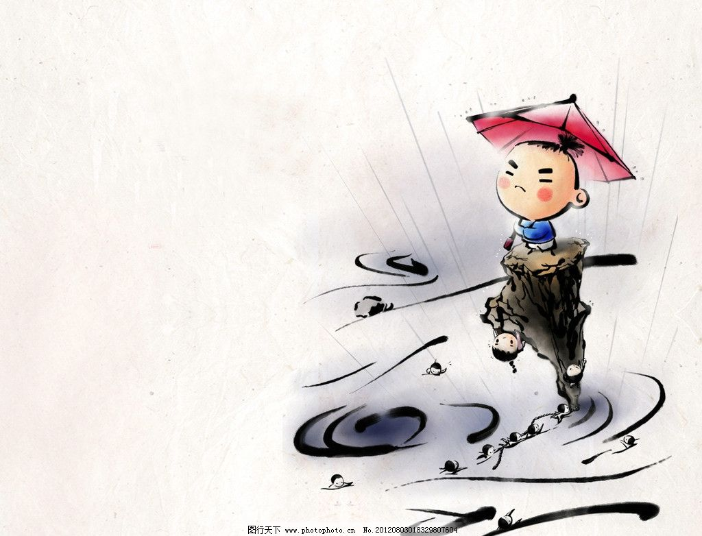 水彩手绘动漫人物壁纸
