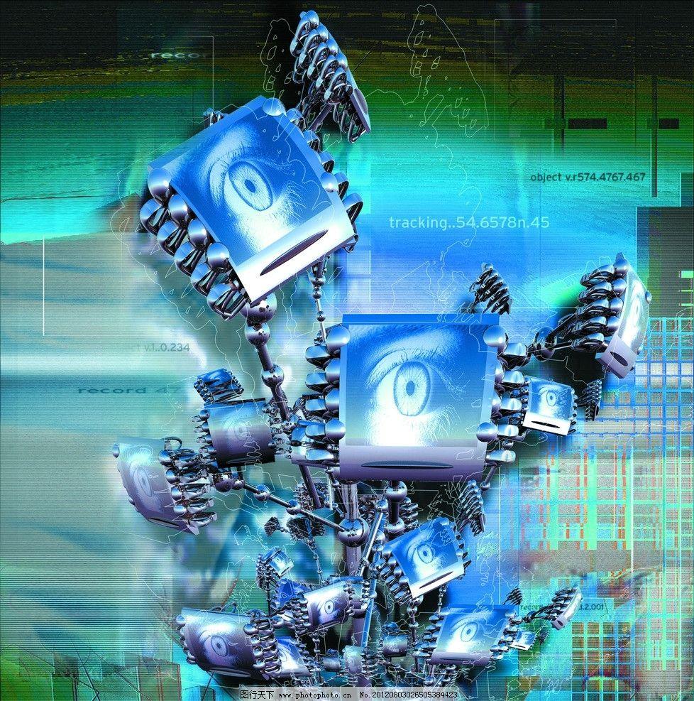 科技的力量 眼睛 科幻 炫彩 机器人 电子