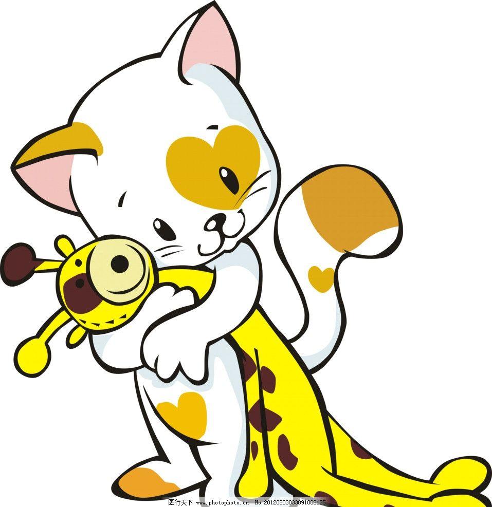 爱情小猫 矢量 动物 矢量素材 其他矢量 cdr