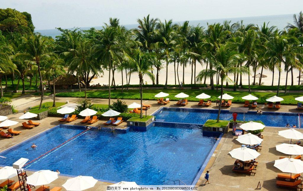 巴厘岛海边 泳池图片