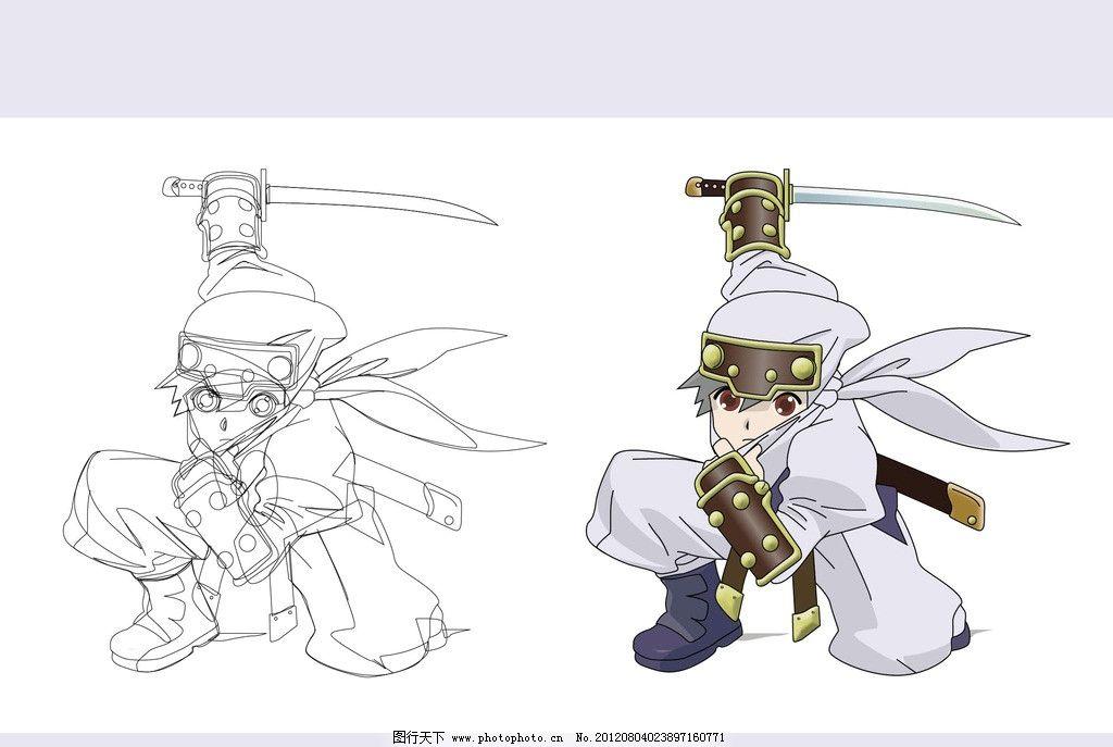 刺客矢量图 刺客 矢量图 矢量 剑客 刀 武功 动漫 漫画 卡通 人物