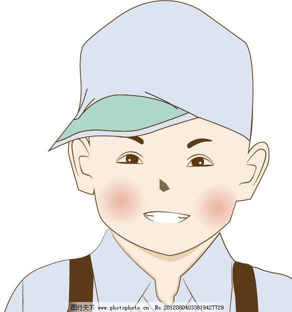 可爱的小男孩 可爱 带帽子 小男孩 ai矢量图库 矢量素材 其他矢量