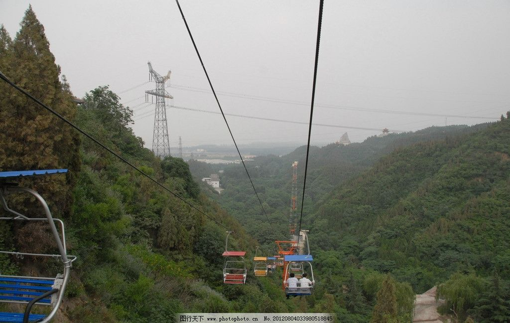 黄河索道 旅游 木屋 树林 森林 摄影 国内旅游 旅游摄影