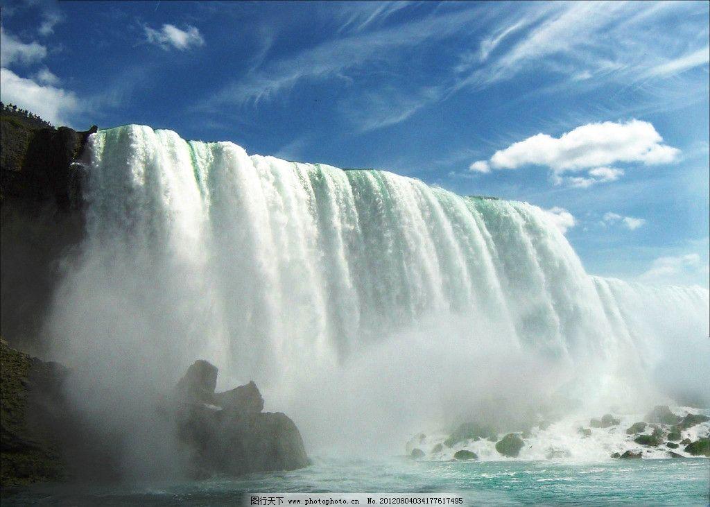 尼亚加拉瀑布仰视图