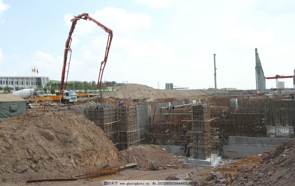 钢结构 建筑工地图片