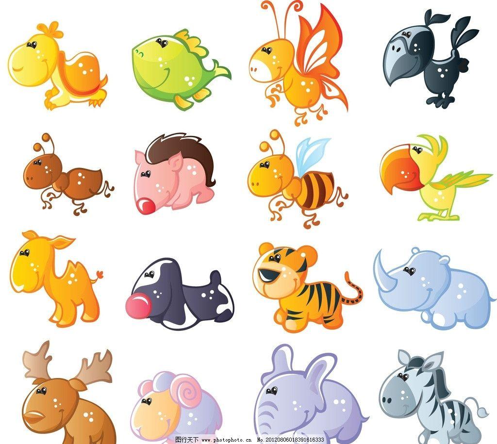 小动物 马 小狗 动漫动画