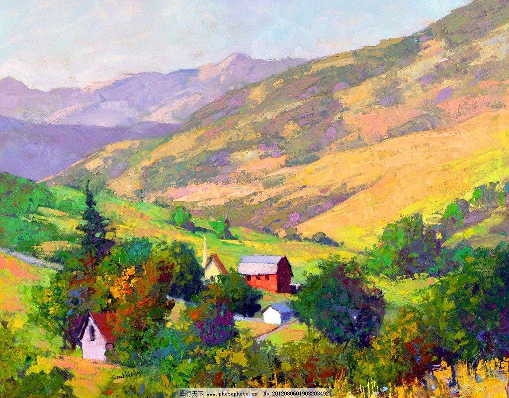油画风景 绘画 艺术 油画艺术