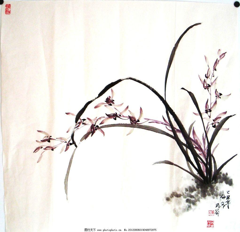 水墨画兰花步骤图
