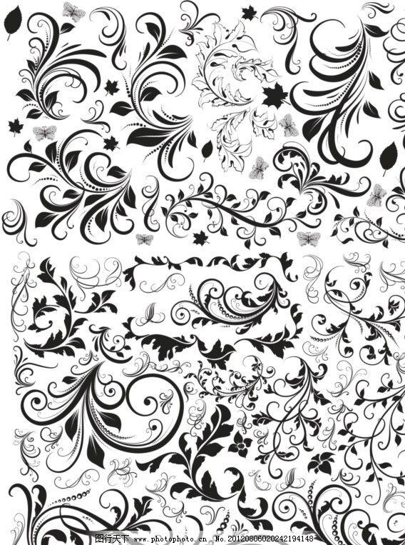 欧式花纹 花纹边框 简约 边框 相框 欧式花纹标签 欧式 花卉 植物