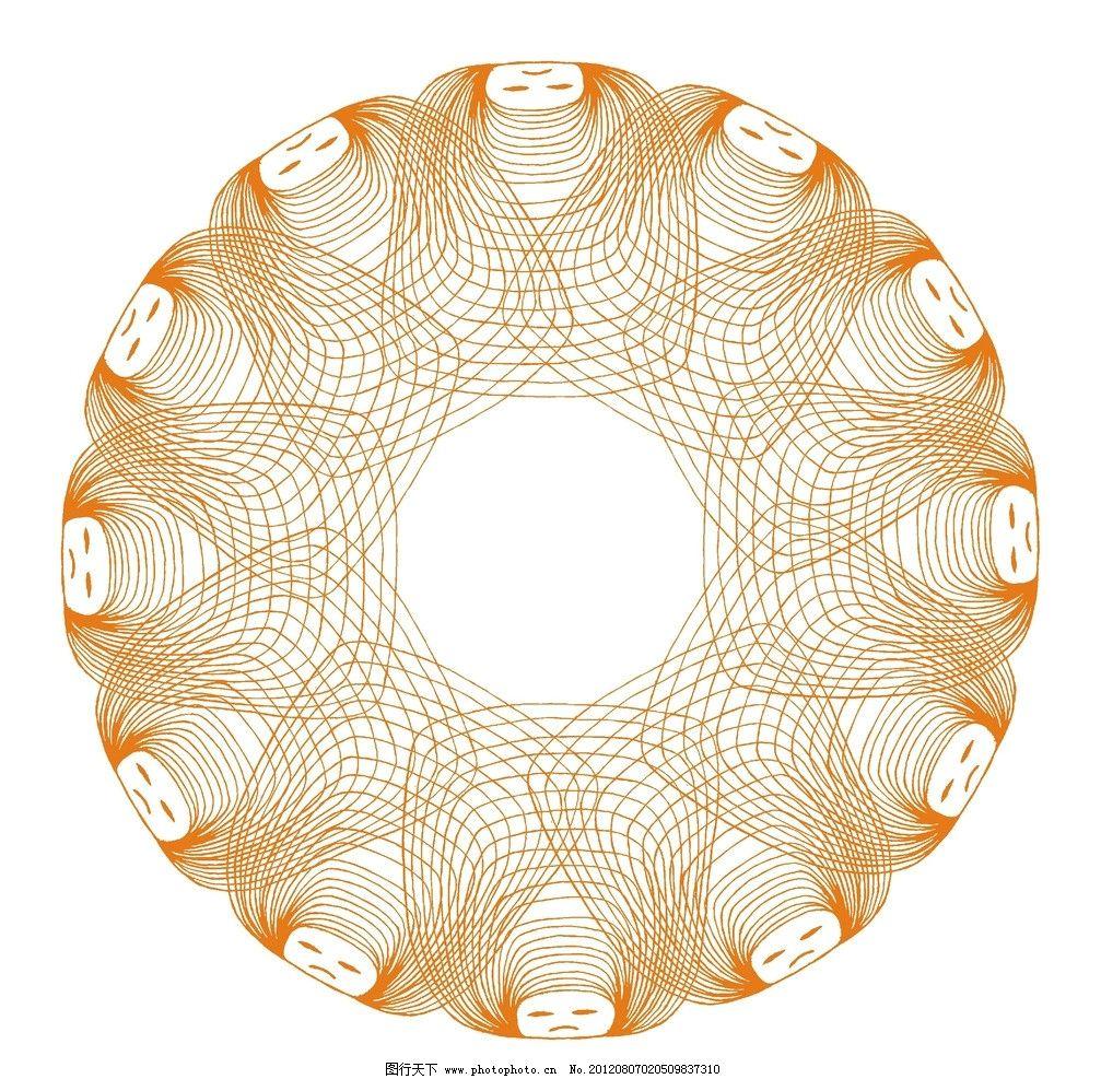 圆形 头花 方形图片