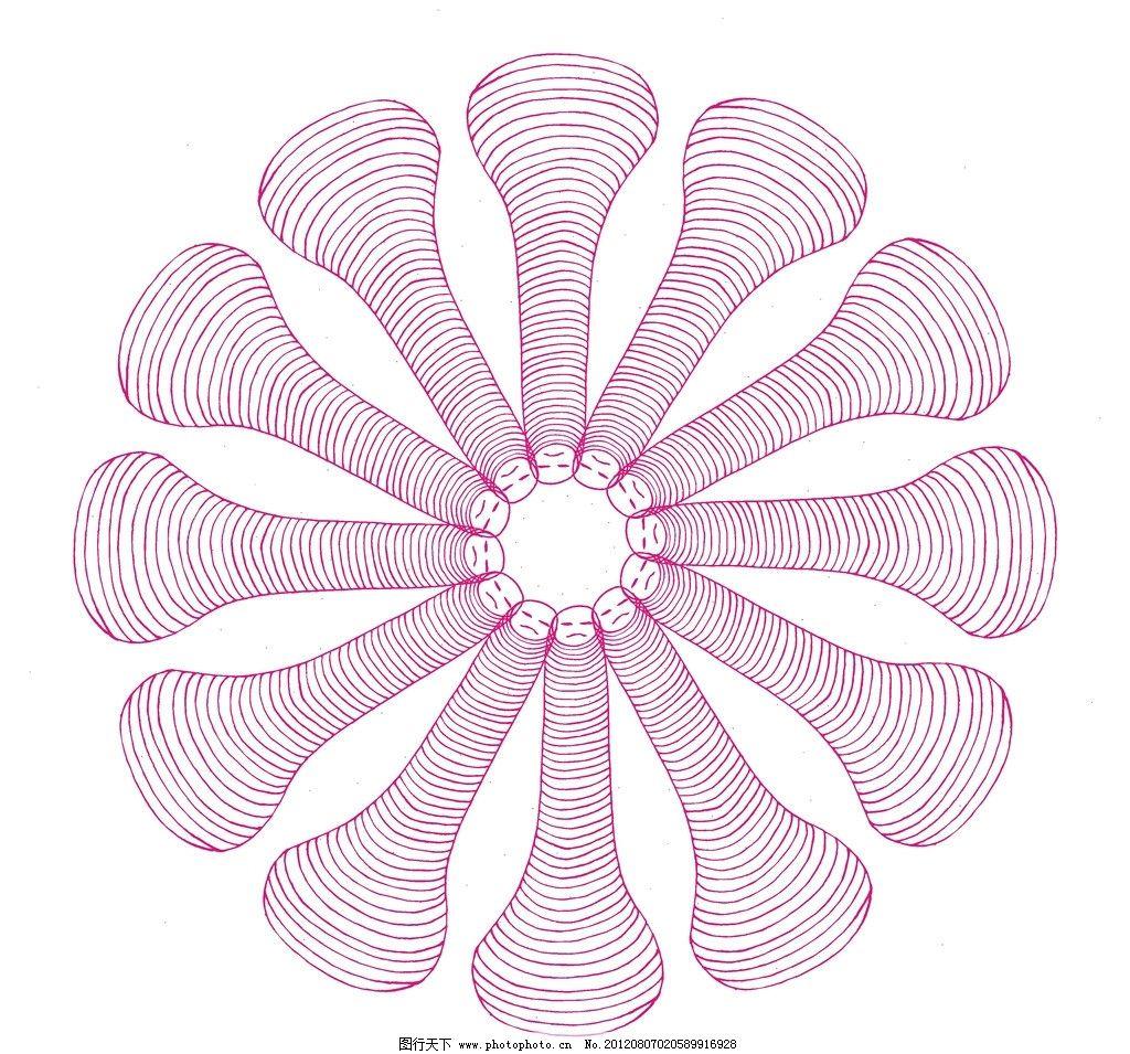抽象花纹 头 指头 指纹 底纹 手绘图案 头型 线条 插画 手绘插画