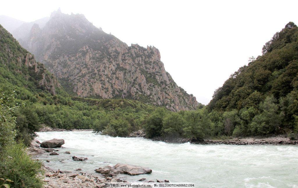 西藏风光 河流 高山 山峰 自然风景 自然景观 摄影