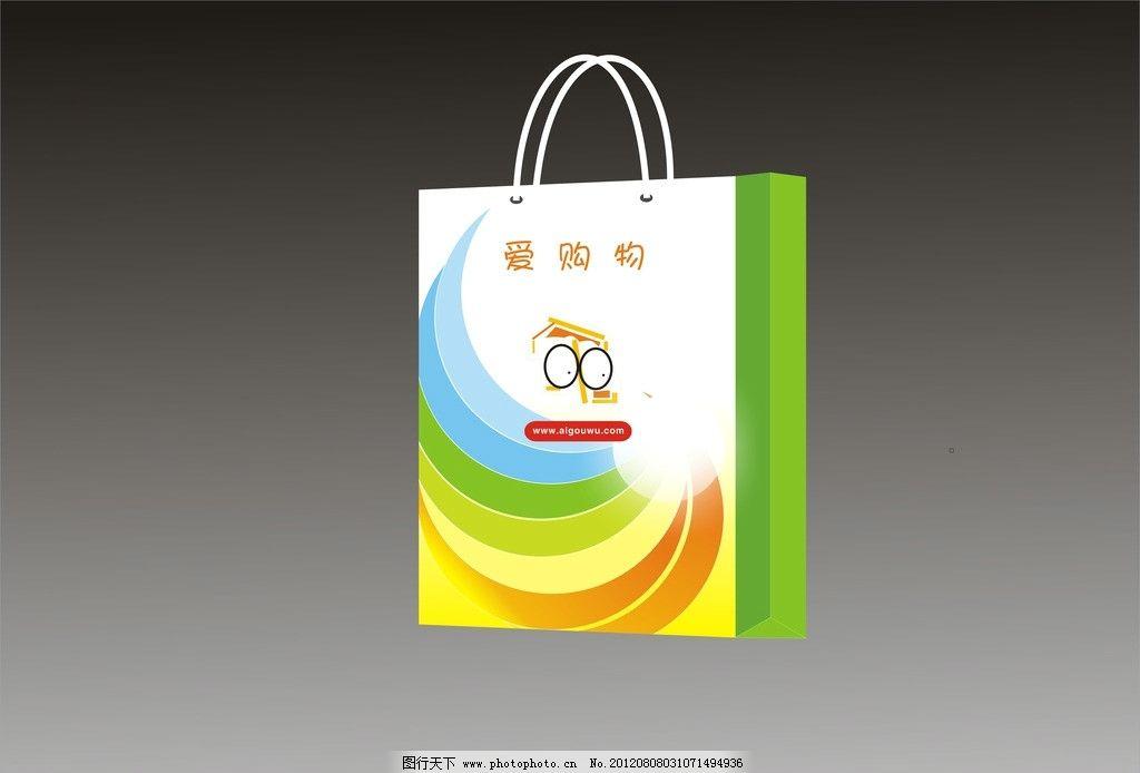 袋子 (效果图) 字 彩色条 卡通图片 其他设计 广告设计 矢量 cdr