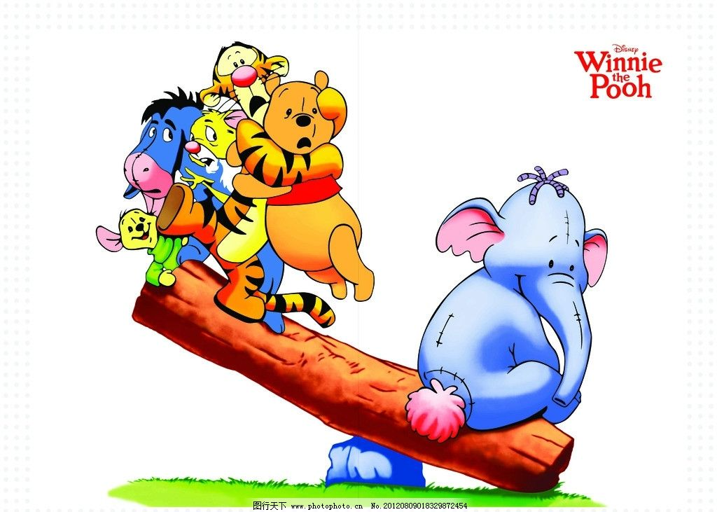 小熊维尼 卡通 可爱 动漫 儿童 动漫人物 动漫动画 设计 72dpi tif