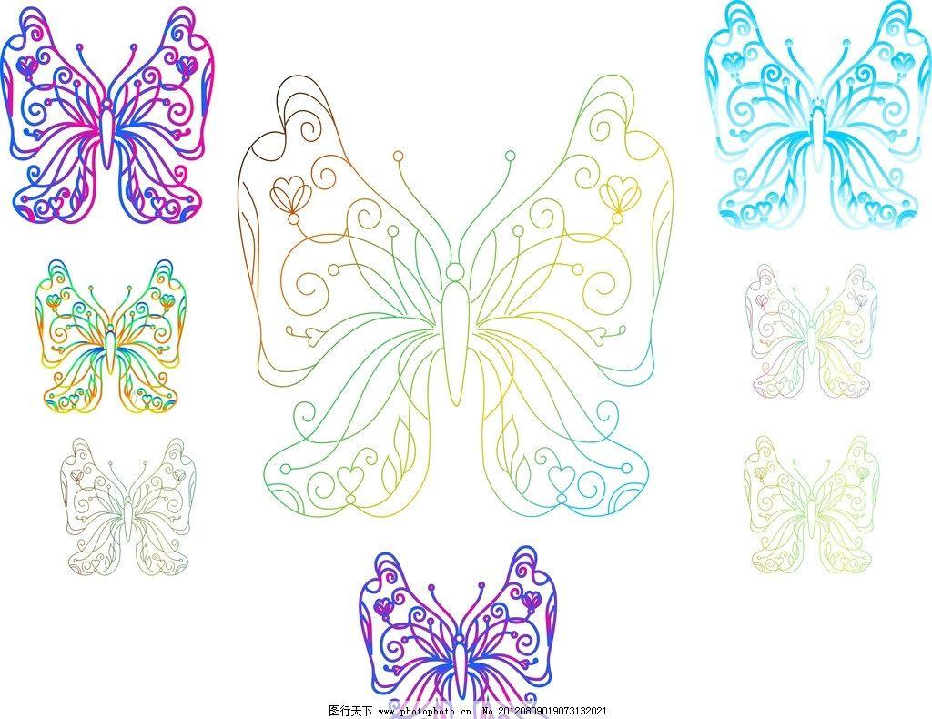 鼠绘蝴蝶 蝴蝶 蝴蝶梦 矢量图 美术绘画 七彩蝴蝶 文化艺术 矢量 cdr