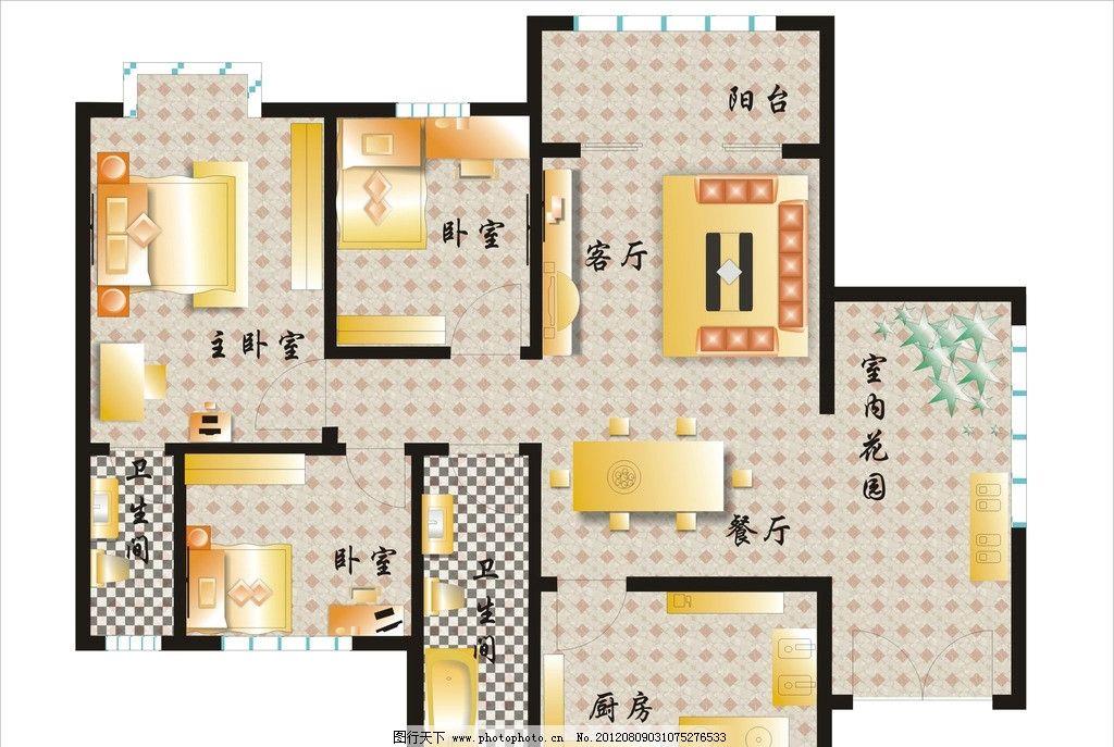 房屋平面图 其他设计 广告设计