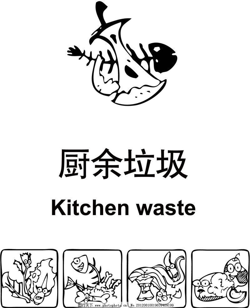厨余垃圾分类图片_厨余垃圾标志带分类图图片_公共标识标志_标志图标_图行天下图库