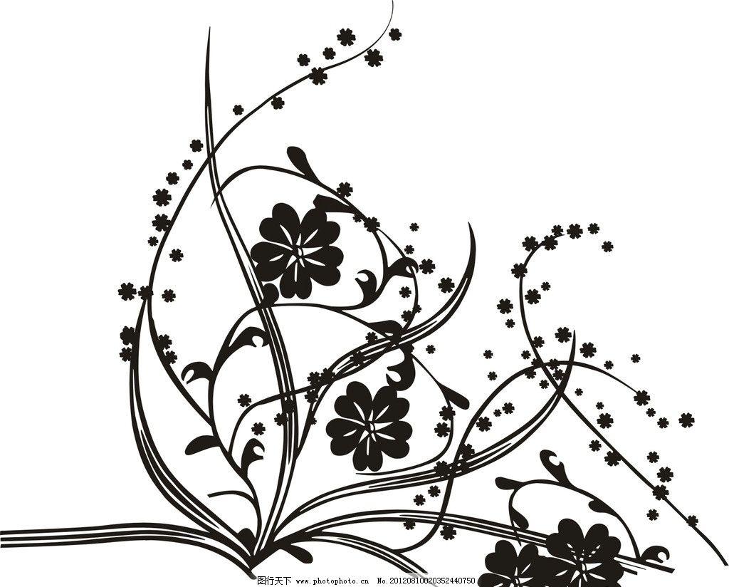 在梅花树下荡秋千的女孩简笔画
