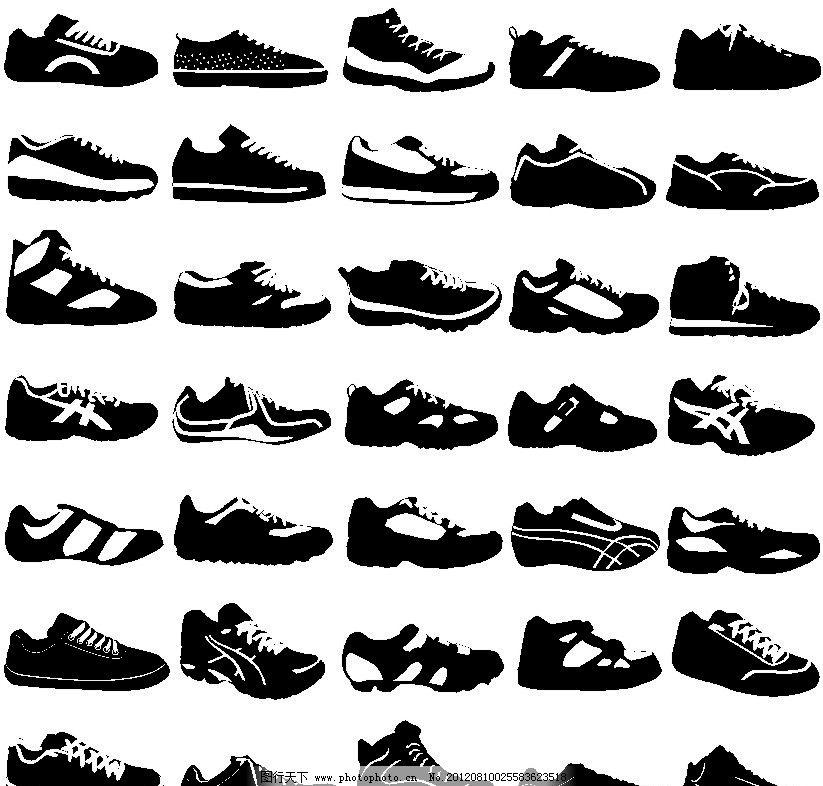 运动鞋 休闲鞋 鞋 服装 鞋帽 生活用品 生活百科 矢量 cdr
