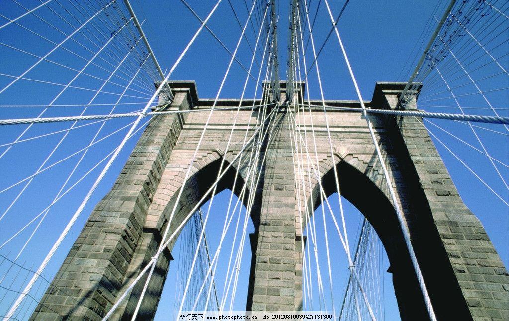 桥梁 大桥 钢丝 蓝天 建筑摄影