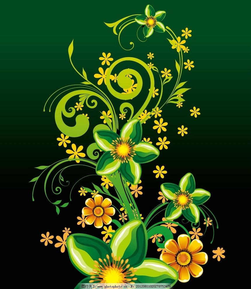 装饰 底纹 花边 图案 花卉 卷叶 边框 欧式花纹 封面 矢量图案