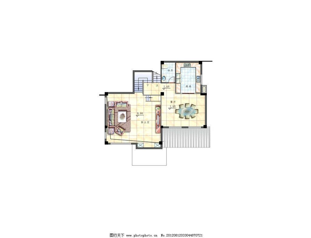 别墅平面效果图图片