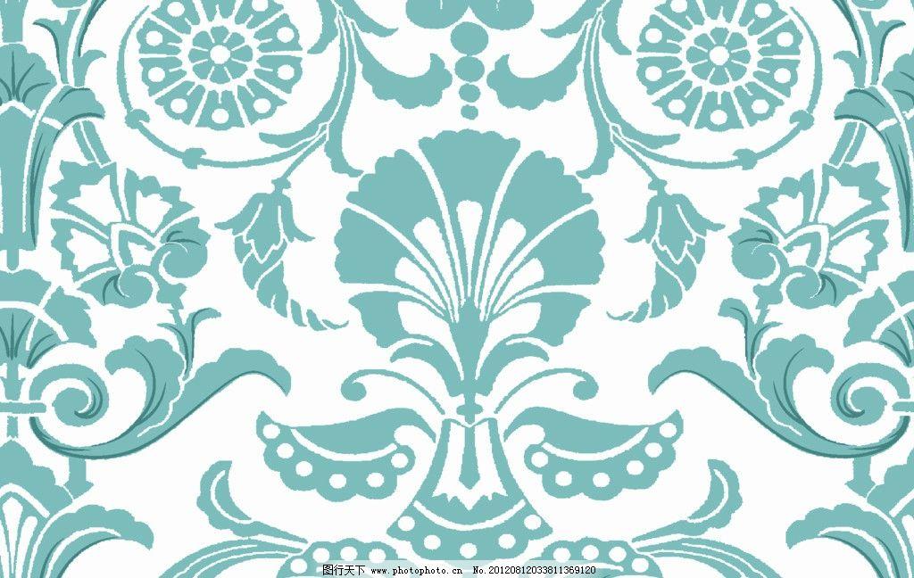 欧式卷草花纹 欧式 卷草 花纹 大马士革 印花 墙纸 图片素材 其他