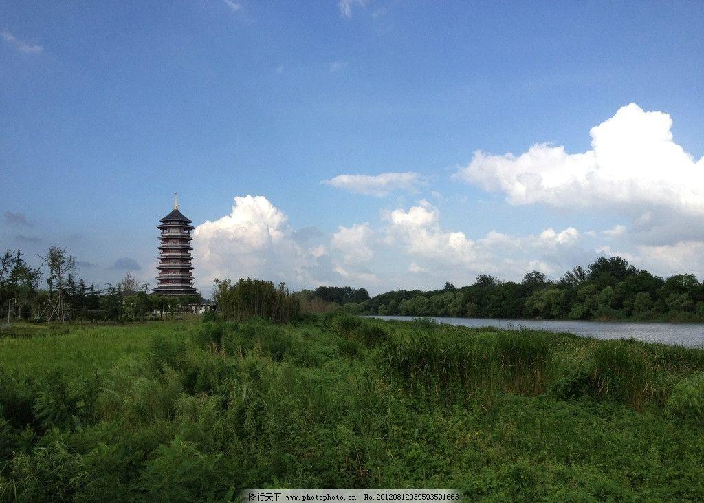 蓝天白云 淮安市风景