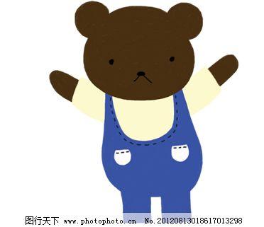 韩国可爱熊仔 背带裤小棕熊图片