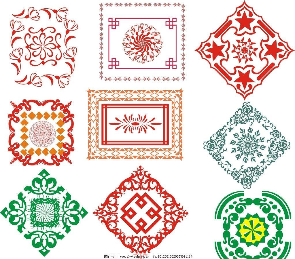 古代边框 黑白边框 底纹 花边 常用花边图片