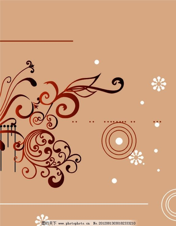 移门 花纹 小花 圆 移门图案 广告设计 矢量