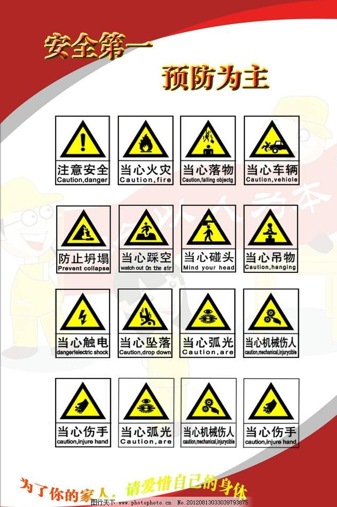 安全生产标识种类