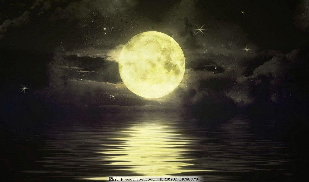 月亮 夜晚 壁纸 绘画 cg