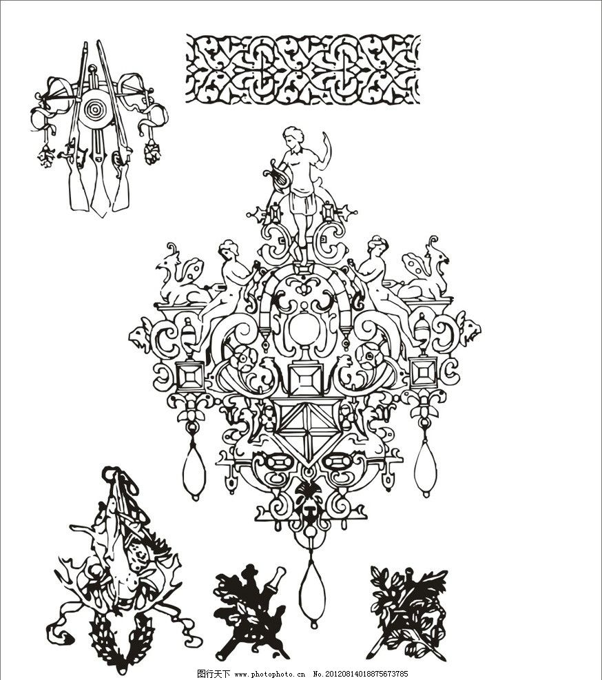 装饰 图案 传统 建筑 纹样 古希腊 古罗马 埃及 欧洲 西方纹样 西方图片