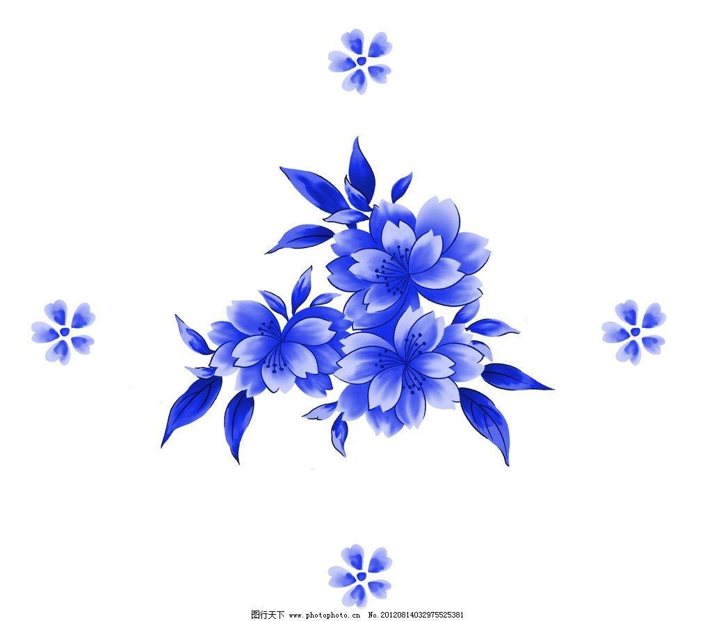青花 青花瓷素材 底纹花纹 陶瓷花纹 陶瓷兰彩 花儿 牡丹 兰花 背景