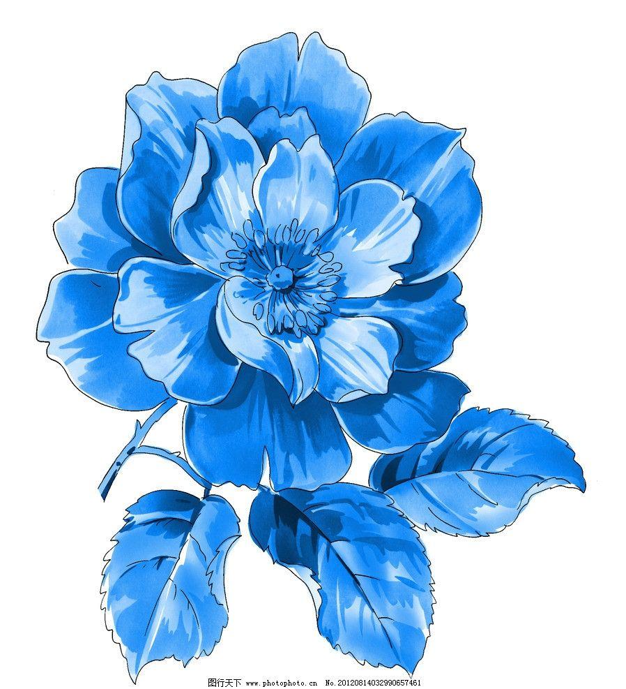 青花 青花瓷素材 底纹花纹 陶瓷花纹 陶瓷兰彩 花儿 牡丹 背景素材