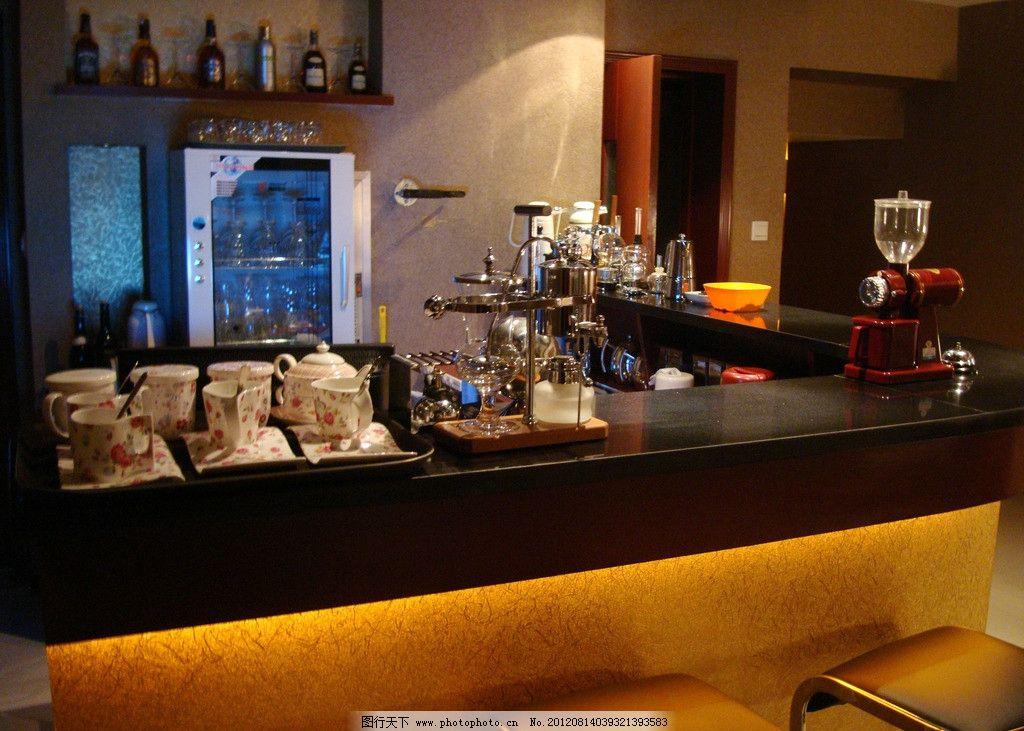 咖啡馆吧台图片