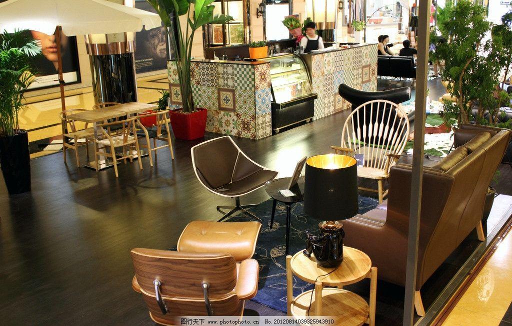 咖啡馆 吧台 椅子 茶几 舒适 环境 摄影图库 建筑园林 室内摄影 摄影