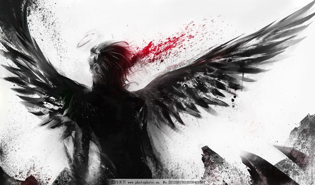 壁纸 翅膀 黑色 高清