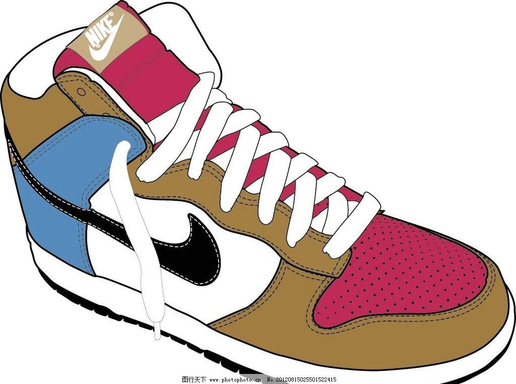 球鞋怎么画可爱的