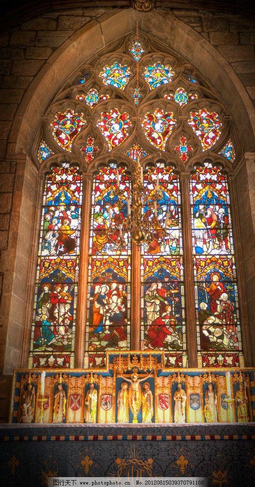 谢菲尔德教堂彩绘玻璃 谢菲尔德 教堂 彩绘 玻璃 彩色 窗户 室内摄影