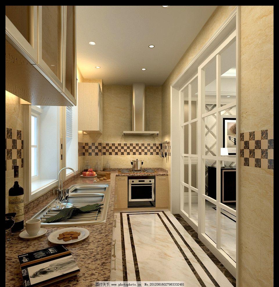 厨房 装修效果 家装 房屋 室内 房屋装修 装饰 吊顶 门 家装效果图