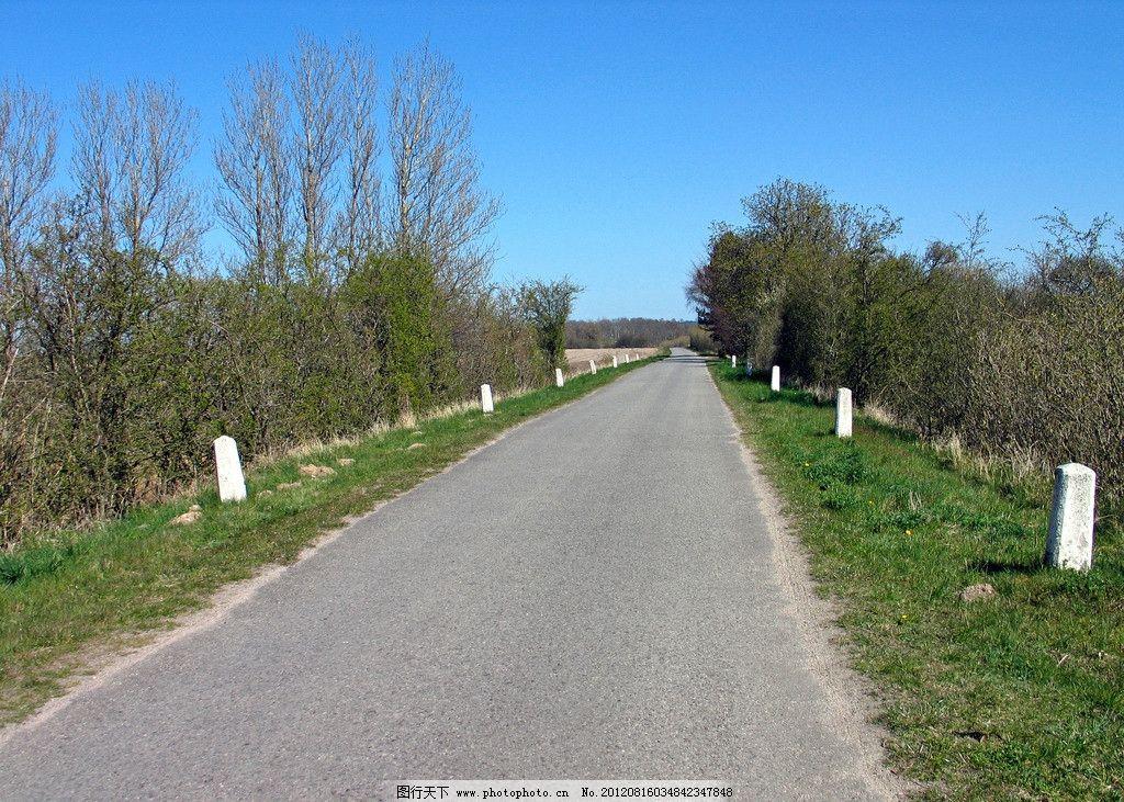 道路风光 道路 风景 风光 美景 树木 大树 树林 草地 绿地 风光方面素图片