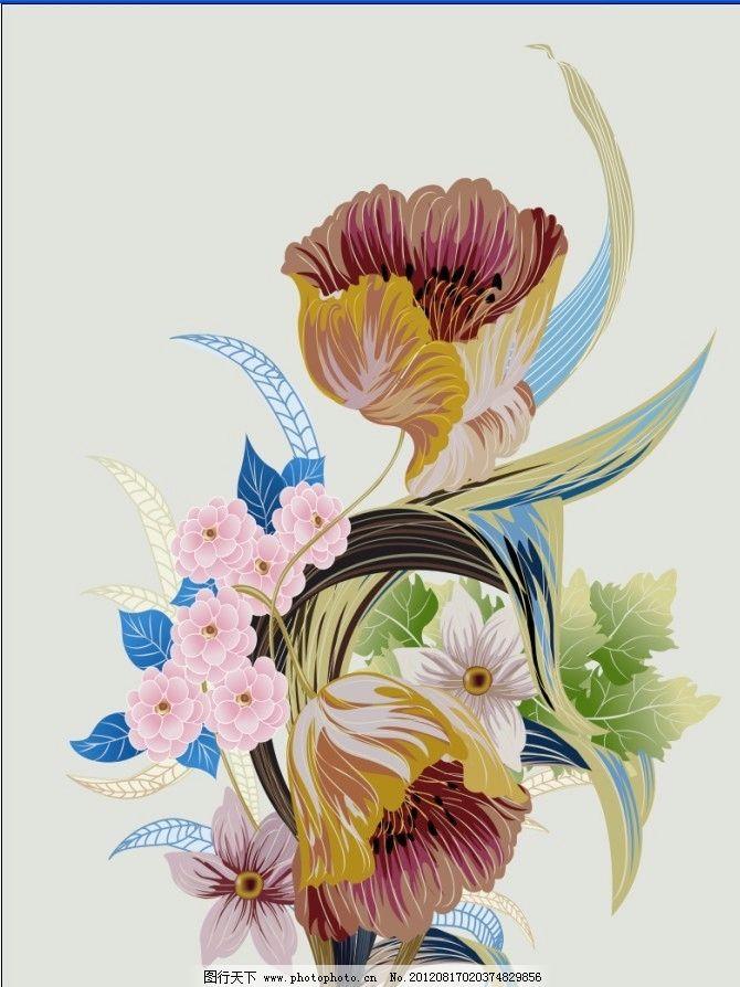 绘画 花 艺术 抽象 油画 底图 工笔画 画 红花 牡丹 玫瑰 百合 桃花