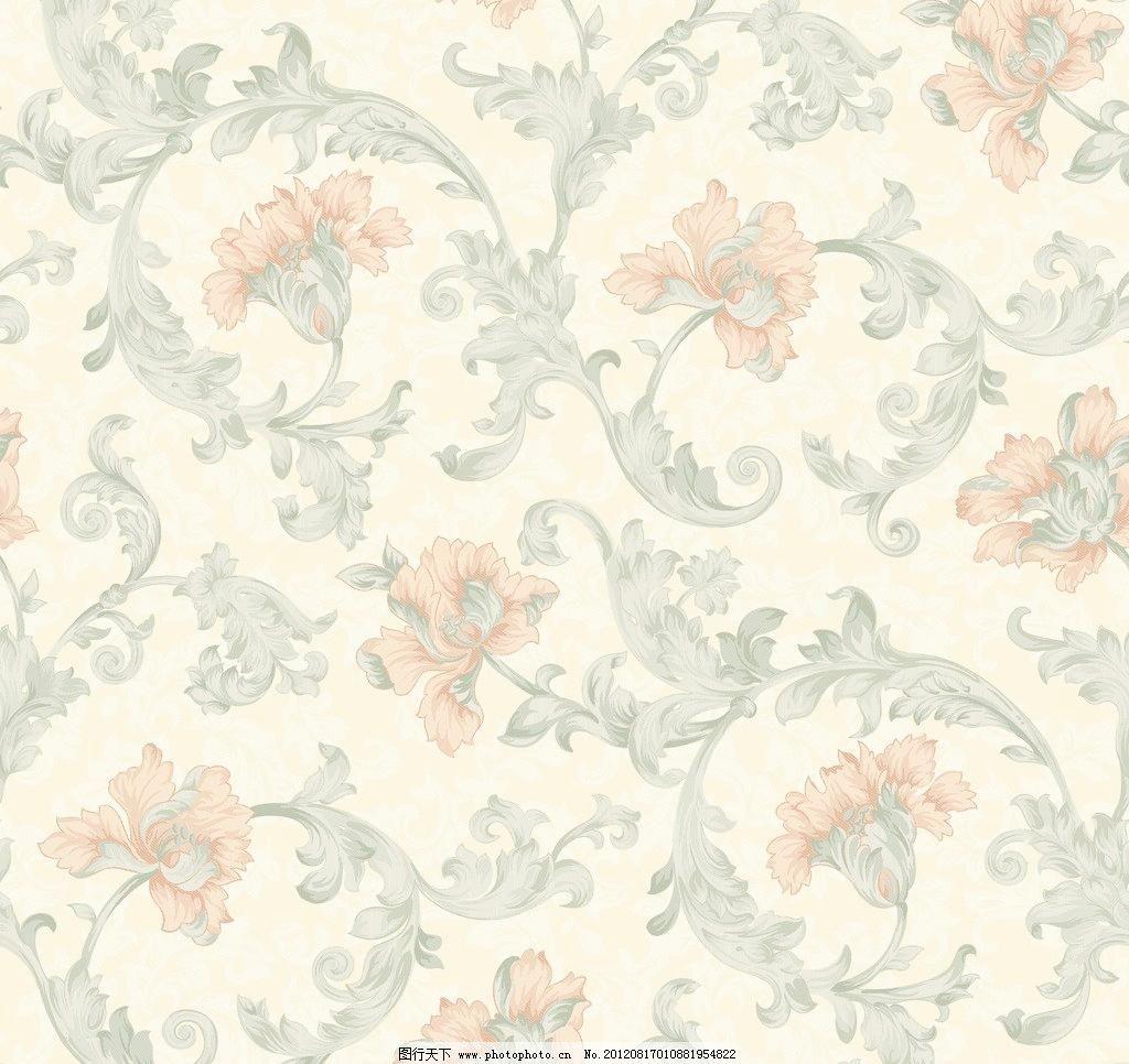 欧式提花肌理风格花纹花卉图片