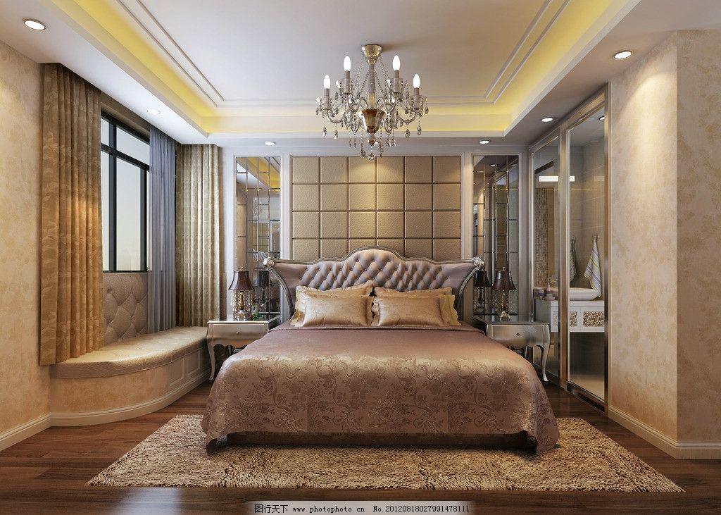 卧室 浪漫 欧式 主卧室 大理石窗台 软包窗台 豪华卧室 精致