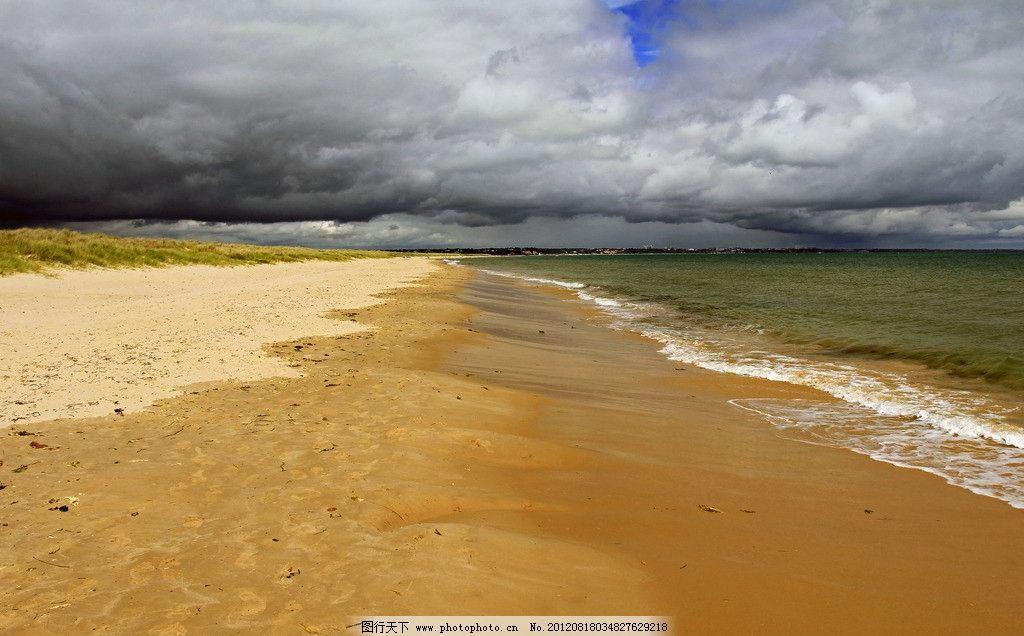海边风光 大海 海洋 海水 风景 美景 晚霞 海岛 小道 沙滩
