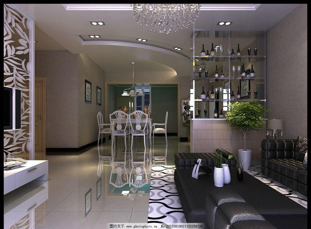 客厅效果 客厅 室内设计 卧室 时尚主卧效果图 单人休闲沙发 床 模型图片